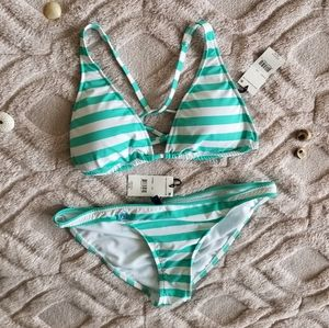 Ralph Lauren 2 piece swimsuit bikini striped
